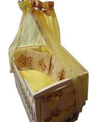 Акция! Новый! Постельный набор в кроватку 14 элементов! Элит подушки